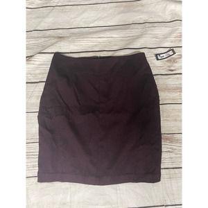 Worthington Size 14 Purple Black Skirt NWT